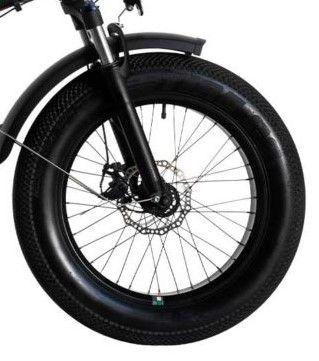 "Bicicleta Pliabila FAT e-Big WAYEL E-BIKE 20x4"" Sabbia Autonomie 75 km negru-verde3"
