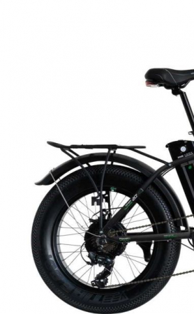 "Bicicleta Pliabila FAT e-Big WAYEL E-BIKE 20x4"" Sabbia Autonomie 75 km negru-verde4"