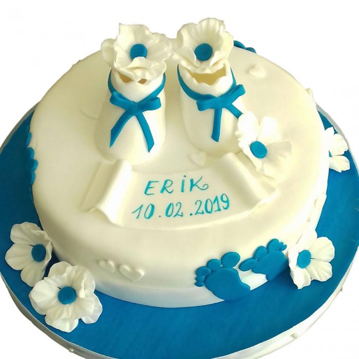 Tort botez botosei cu flori [0]