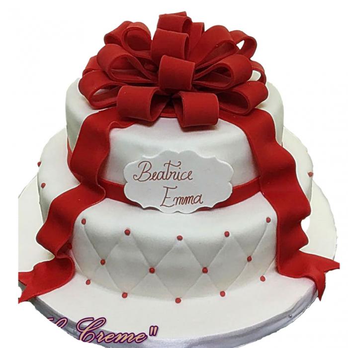 Tort cadou cu funda rosie model 1 [0]