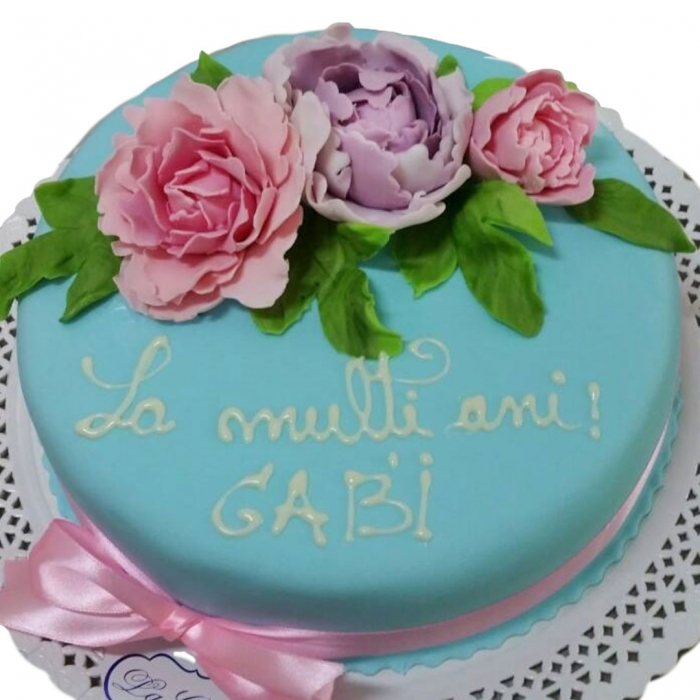 Tort colorat cu flori model 1 [0]