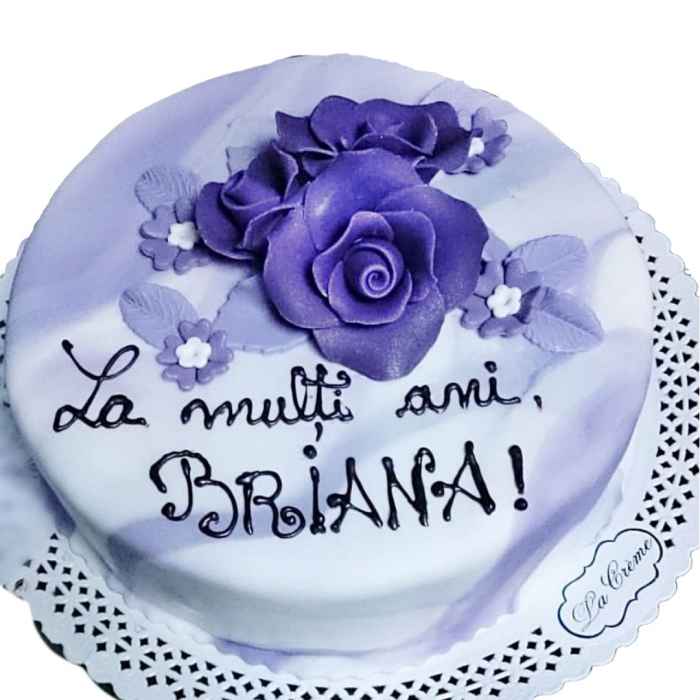 Tort colorat cu flori model 2 [0]