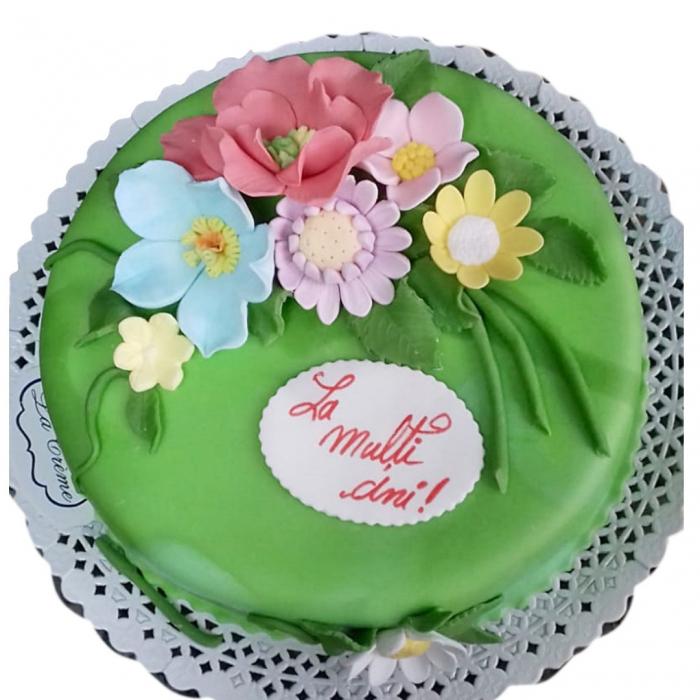 Tort colorat cu flori model 3 [0]