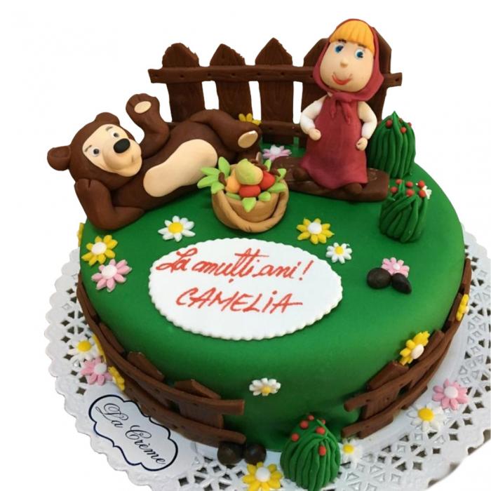 Tort Masa si ursul cu figurine [0]