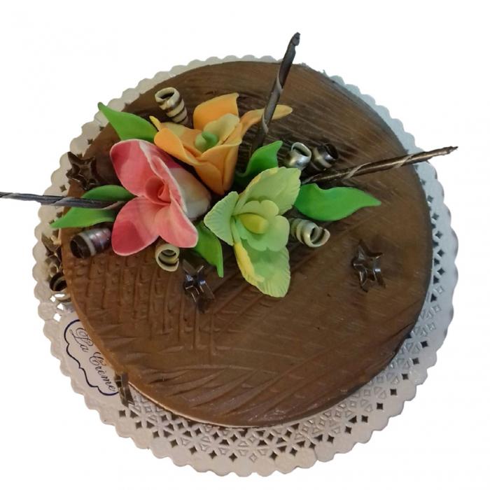 Tort mousse ciocolata cu flori [0]