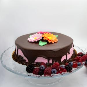 Tort ciocolata si zmeura1