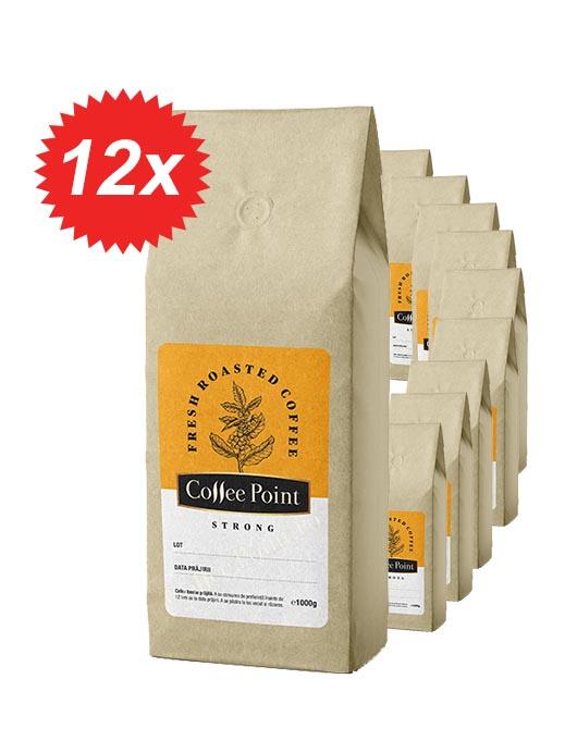 Pachet 12kg Cafea boabe proaspat prajita Coffeepoint Strong [0]