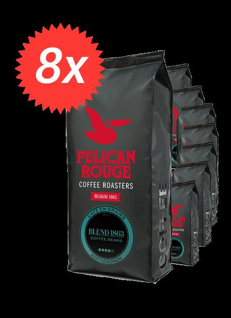 Pachet 8kg Cafea Boabe Pelican Rouge Blend 1863 [0]