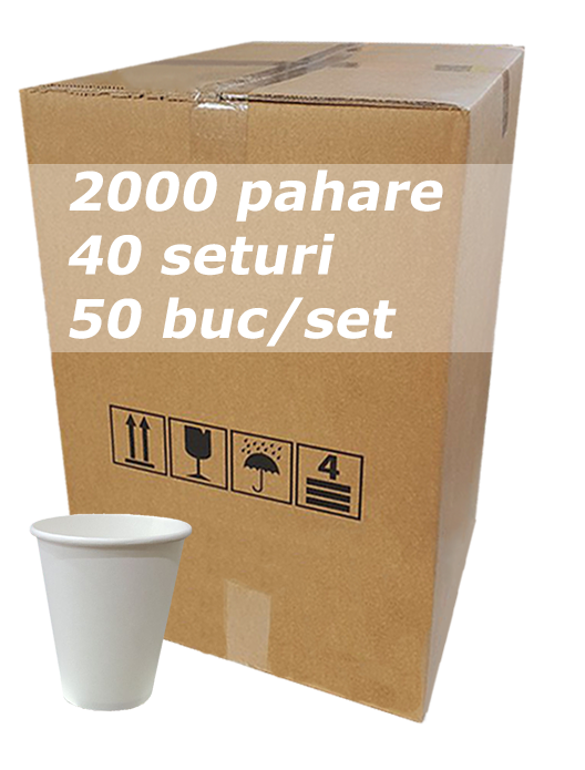 Pahar carton 6oz Alb JND bax 2000buc [0]