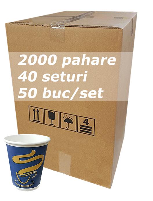Pahar carton 6oz Albastru JND bax 2000buc [0]
