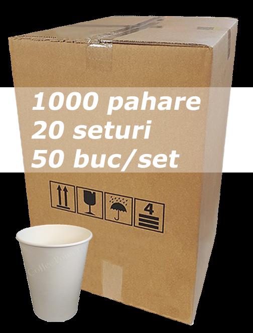 Pahar carton 8oz Alb CITY bax 1000buc [0]