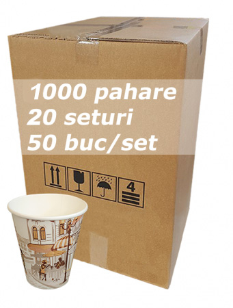 Pahar carton 8oz City Life bax 1000buc [0]