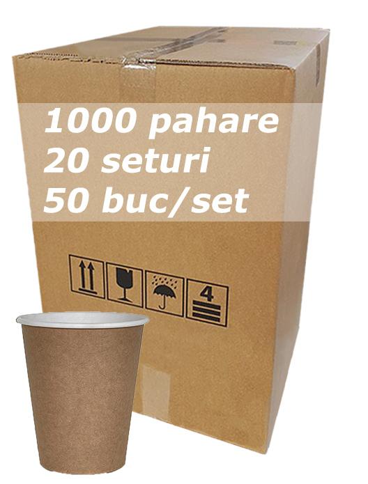 Pahar carton 8oz Natur Kraft City bax 1000buc [0]