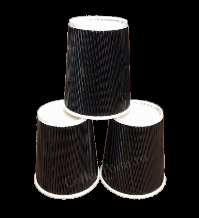Pahar carton Negru 8oz perete dublu 25buc [0]