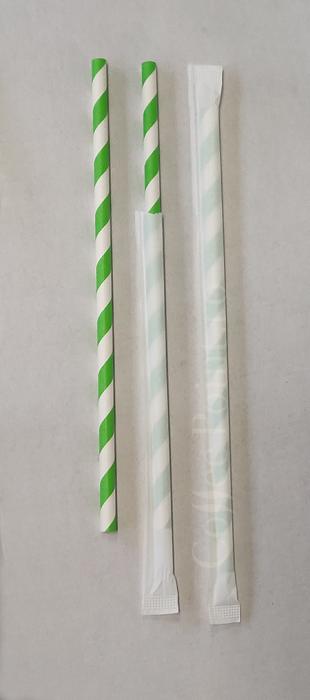 Paie din hartie alb cu verde 6x197mm 500buc [0]
