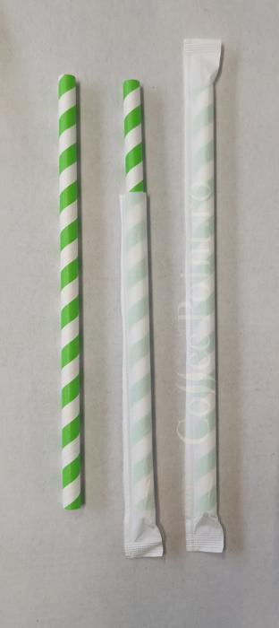 Paie din hartie alb cu verde 8x197mm 500buc [0]