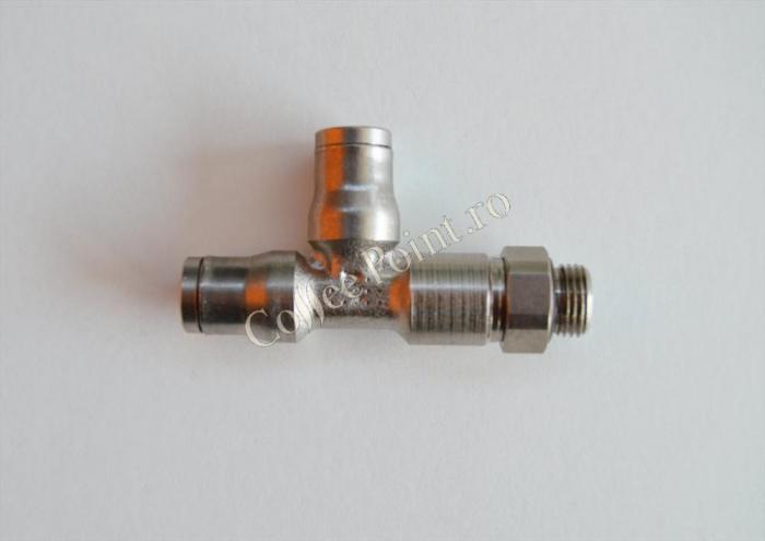 Racord T mufa rapida 6x1/8 electrovalva compresie [0]
