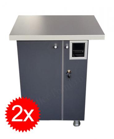 Pachet 2x Cabinet aparat cafea VM4 Antracit