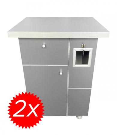 Pachet 2x Cabinet aparat cafea VM8 Antracit