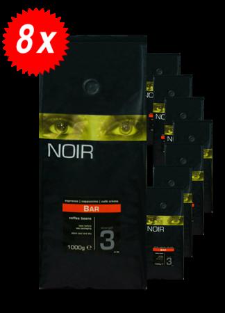 Pachet 8kg Cafea Boabe ICS Noir Bar