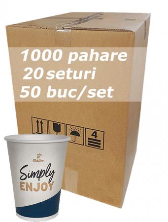 Pahar carton 12oz Tchibo bax 1000buc [0]