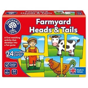 Farmyard heads & tails - Joc educativ asociere 0
