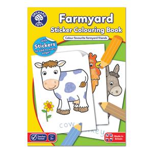 Carte de colorat cu activitati in limba engleza si abtibilduri Ferma FARMYARD 0