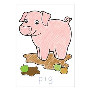 Carte de colorat cu activitati in limba engleza si abtibilduri Ferma FARMYARD 1
