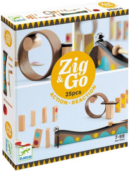 Zig & Go 25 piese - Set de constructie trasee [0]