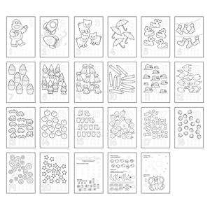 Carte de colorat cu activitati in limba engleza si abtibilduri 1 - 20 2