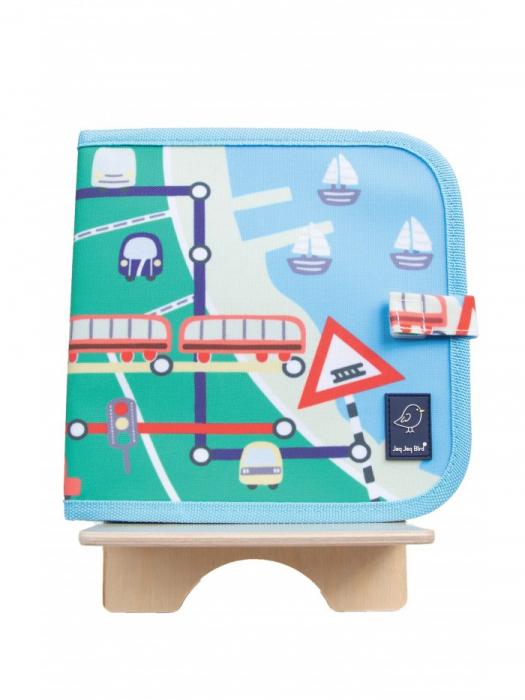 Doodle It & Go erasable book - Train - Carte refolosibilă pentru desen 0