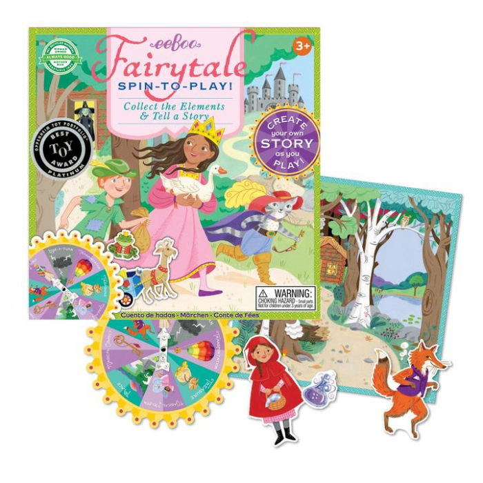 Fairytale Spinner Game - Joc educativ cu ruleta pentru dezvoltarea vocabularului si a limbajului 2