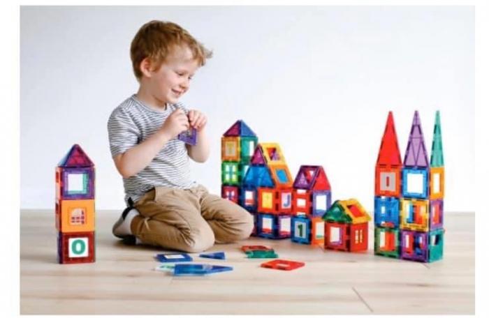 Joc magnetic Playmags - 150 de piese de construcție [0]