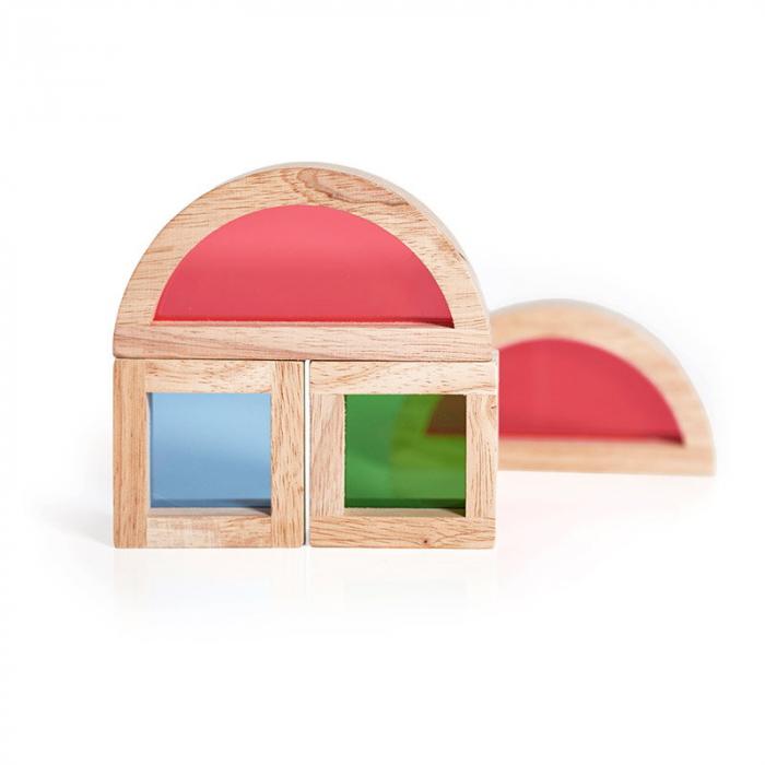 Junior Rainbow Blocks set 20 piese 2