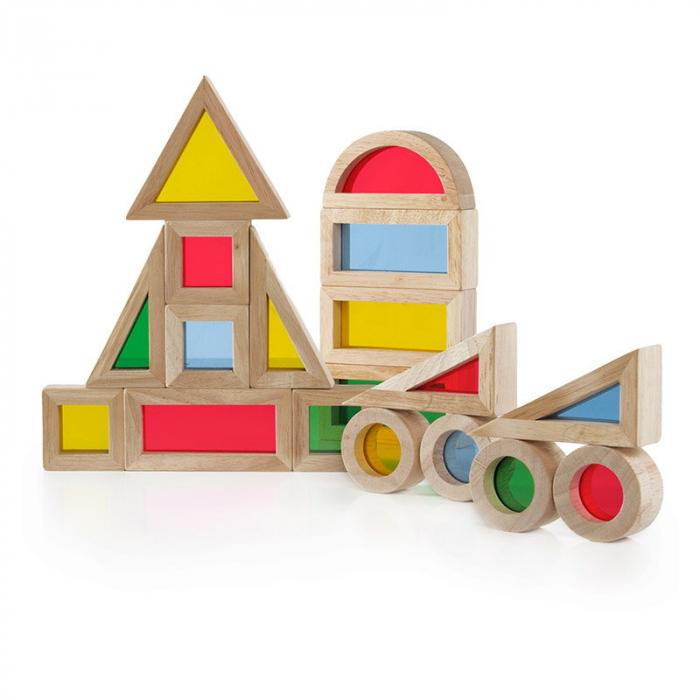 Junior Rainbow Blocks set 20 piese 3