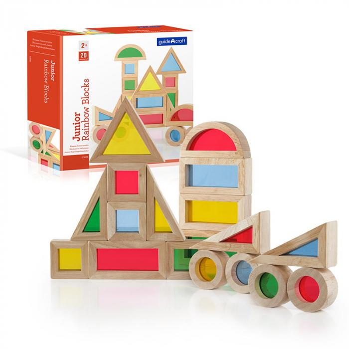 Junior Rainbow Blocks set 20 piese 0
