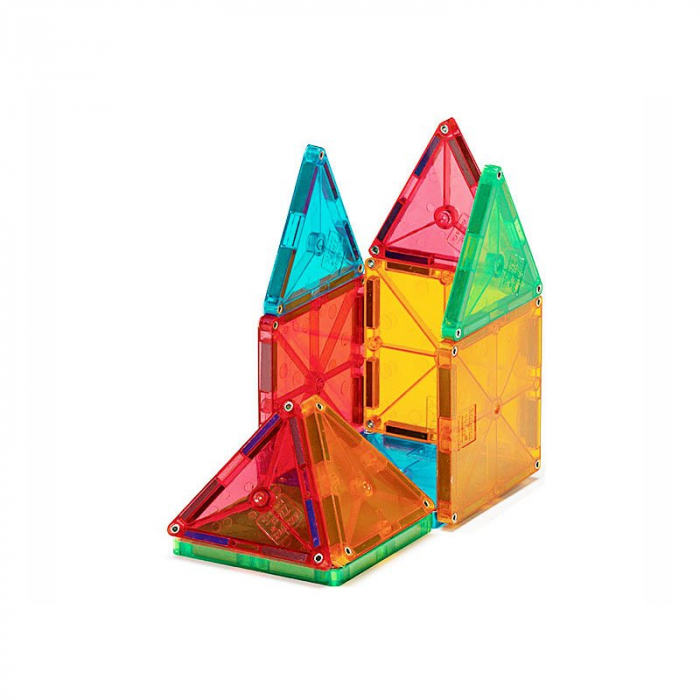 Magna-Tiles Clear Colors set magnetic (100 piese) [3]