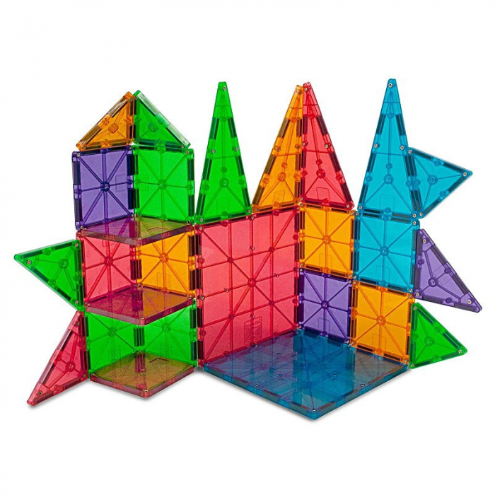 Magna-Tiles Clear Colors set magnetic (100 piese) [2]