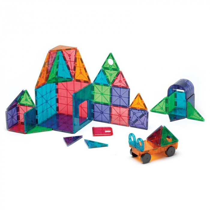 Magna-Tiles Clear Colors set magnetic (48 piese) 1