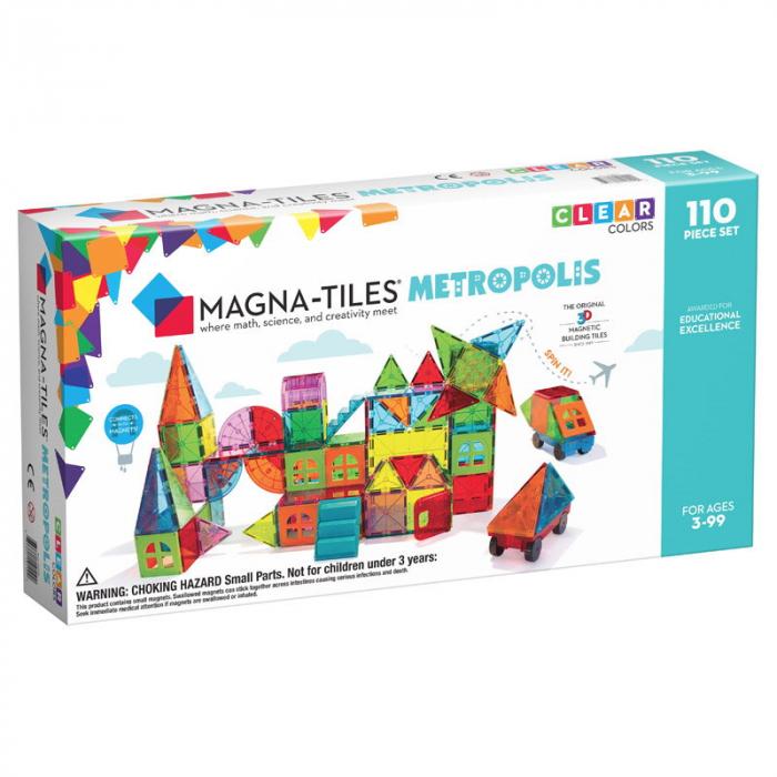Magna-Tiles Metropolis set magnetic (110 piese) 0