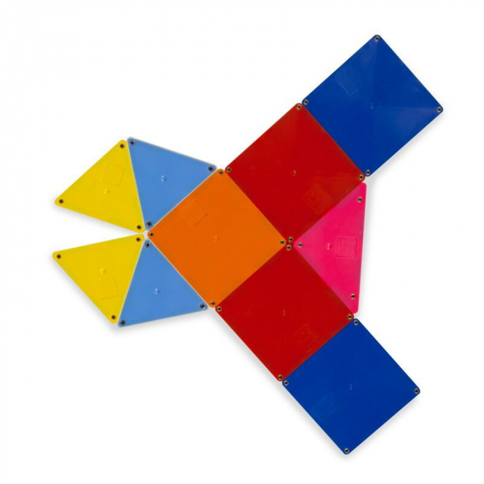 Magna-Tiles Solid Colors set magnetic (100 piese) 3