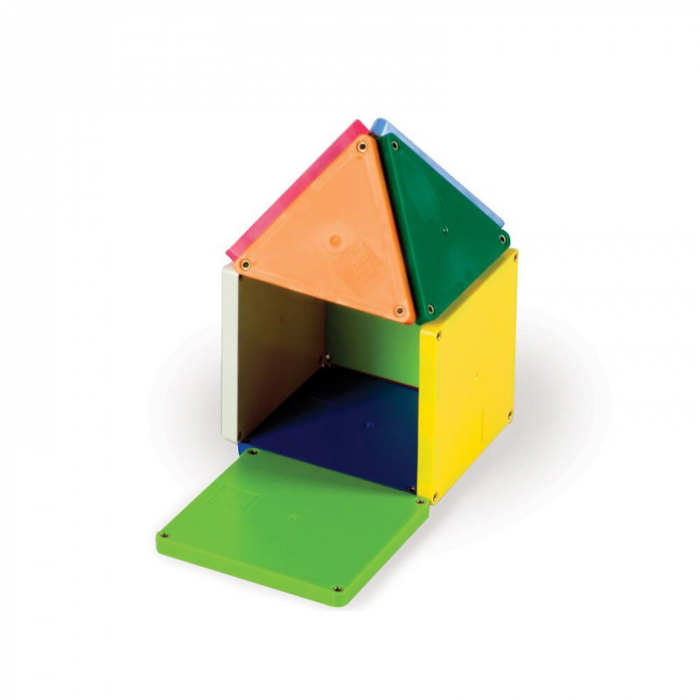 Magna-Tiles Solid Colors set magnetic (100 piese) 4