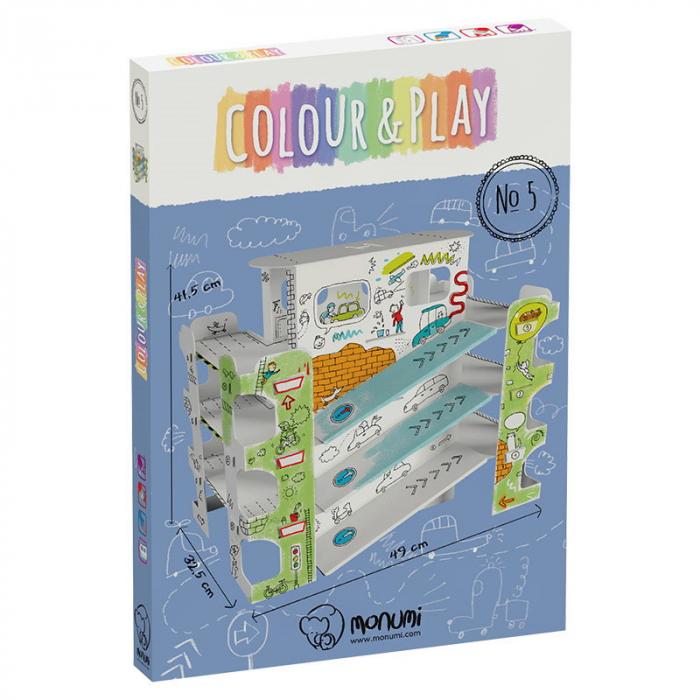 Parcare etajata de colorat XXL din carton [9]