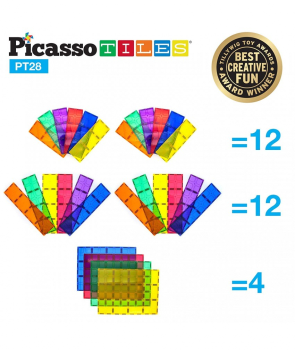 Set Magnetic Picasso Tiles - 28 Piese 2