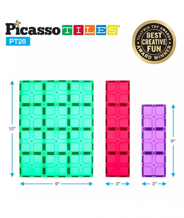 Set Magnetic Picasso Tiles - 28 Piese 3