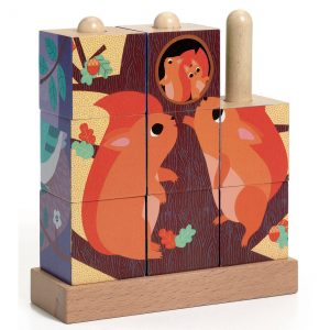 Puzzle vertical cu cuburi - Puzz-Up Forest [1]