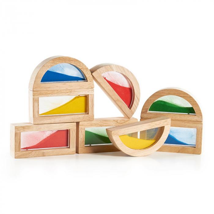 Rainbow Blocks cu nisip colorat 2