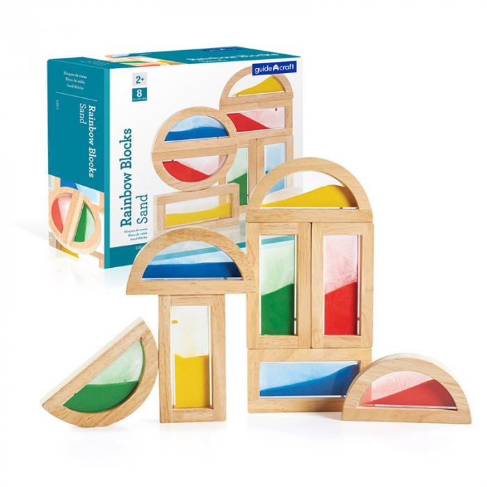 Rainbow Blocks cu nisip colorat 0