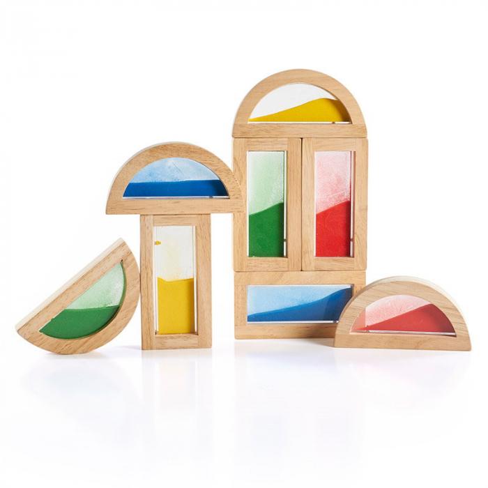 Rainbow Blocks cu nisip colorat 1