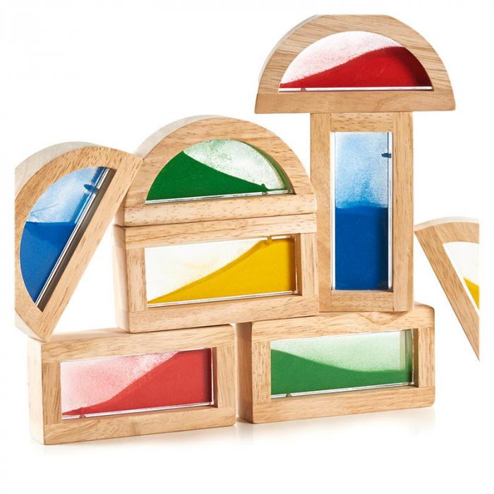 Rainbow Blocks cu nisip colorat 3